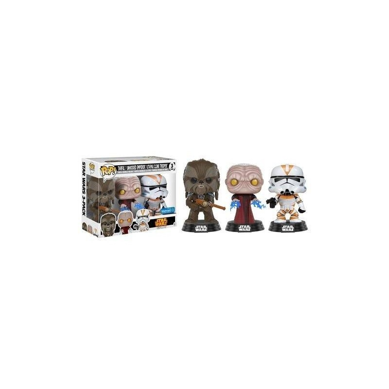 Tarfful - Unhooded Emperor - Utapau Clone Trooper (Star Wars) POP Pack 3